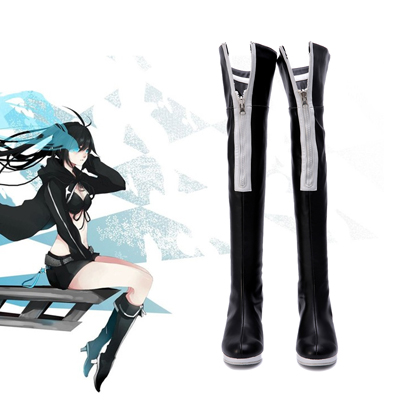 Vocaloid Preto Rock Shooter 1ST Sapatos Carnaval
