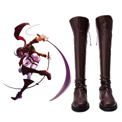 Attack on Titan Men's Military Boots Cosplay Shoes UK