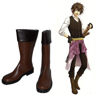 Hakuouki Toudou Heisuke Cosplay Shoes UK
