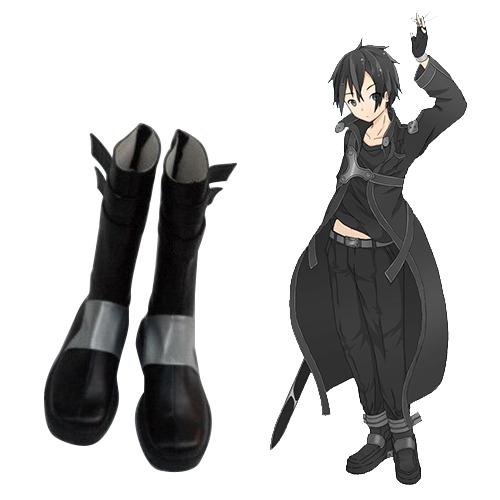 Sword Art Online Kirigaya Kazuto Cosplay Sko Karneval Støvler