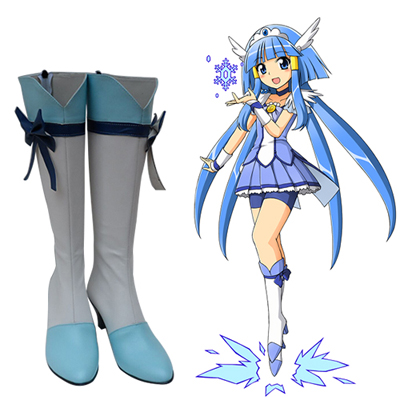 Zapatos Glitter Force Aoki Reika Cosplay Botas