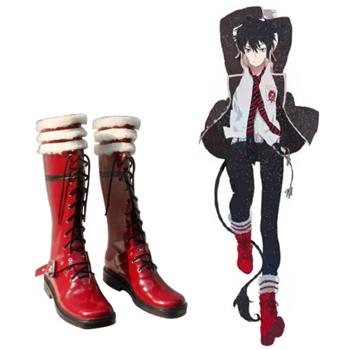Blue Exorcist Okumura Rin Faschings Stiefel Cosplay Schuhe