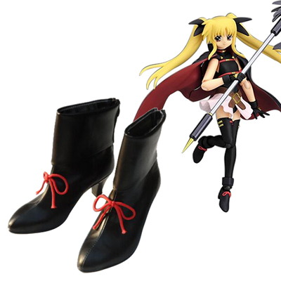 Magical Girl Lyrical Nanoha Fate Testarossa Harlaown Faschings Stiefel Cosplay Schuhe