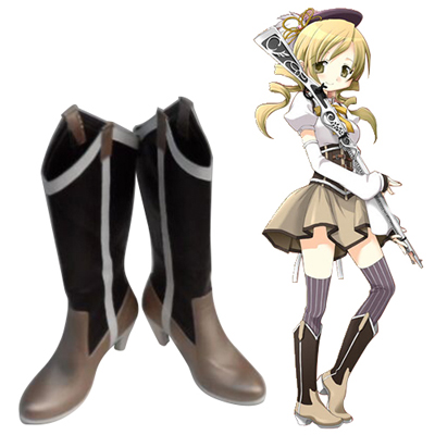Puella Magi Madoka Magica Tomoe Mami Cosplay Shoes UK