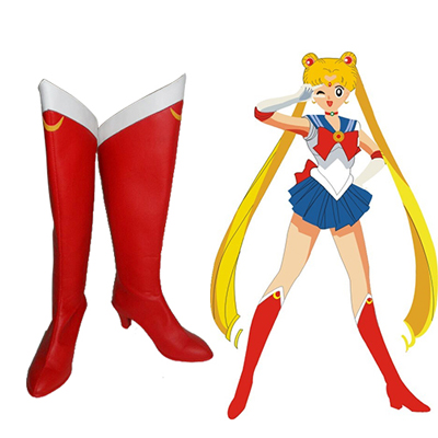Sailor Moon Usagi Tsukino Faschings Stiefel Cosplay Schuhe