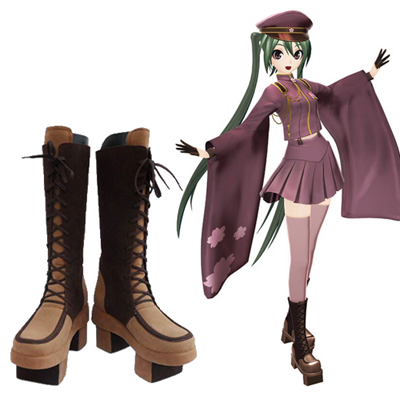 Zapatos Vocaloid Hatsune Miku Thousand Cherry Cosplay Botas