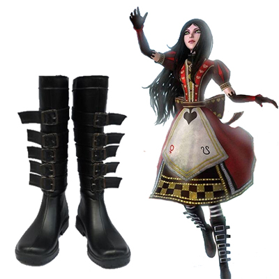 Alice: Madness Returns Alice Chaussures Carnaval Cosplay