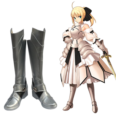 Fate/Unlimited Codes Saber Lily Faschings Stiefel Cosplay Schuhe