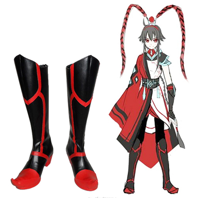 Zapatos Vocaloid 3 March Rain Yuezheng Ling Cosplay Botas