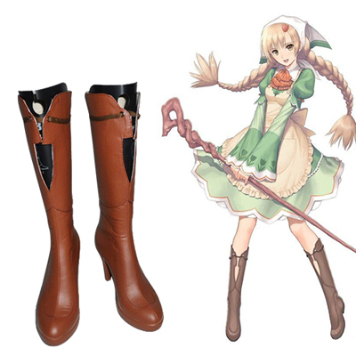 Zapatos Shining Hearts: Shiawase no Pan The Honey Dew Cosplay Botas