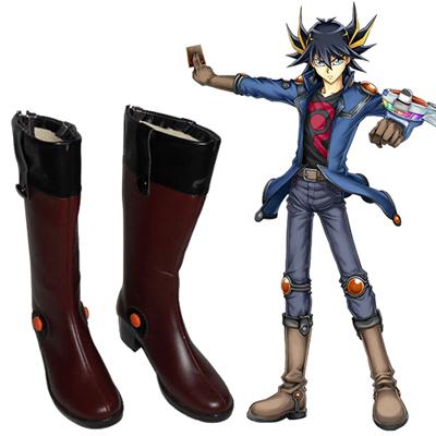 Yu-Gi-Oh! 5D's Yusei Fudo Faschings Stiefel Cosplay Schuhe