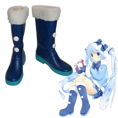 Vocaloid Snow Hatsune Cosplay Shoes