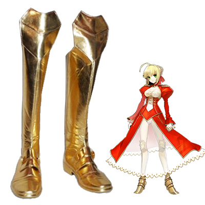 Fate/Extra Red Saber Nero Claudius Men's Faschings Stiefel Cosplay Schuhe