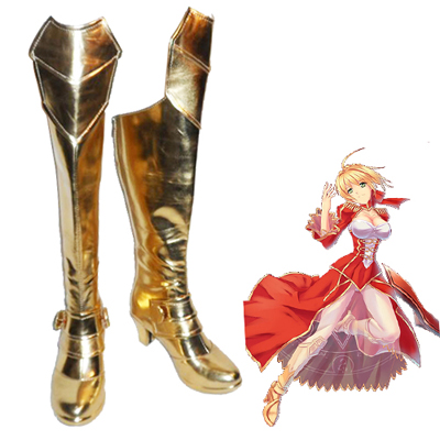Fate/Extra Red Saber Nero Claudius Girl's Chaussures Carnaval Cosplay