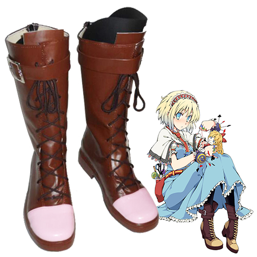 TouHou Project Alice Margatroid Faschings Stiefel Cosplay Schuhe