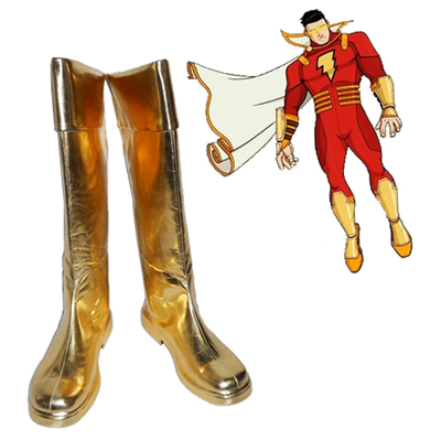 Justice League Captain Marvel Cosplay Scarpe Carnevale