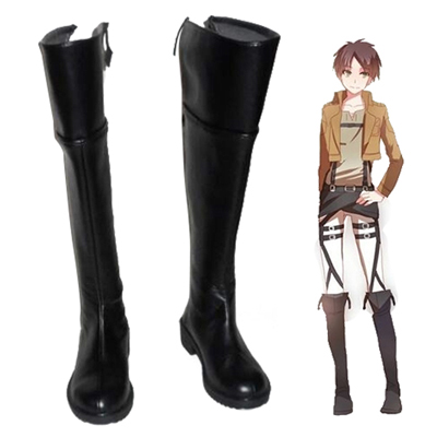 Attack on Titan Eren Yeager Faschings Stiefel Cosplay Schuhe