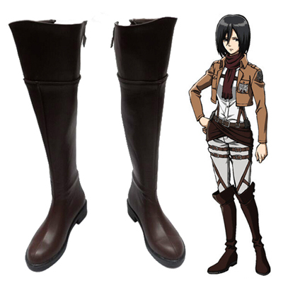 Zapatos Attack on Titan Mikasa·Ackerman Cosplay Botas