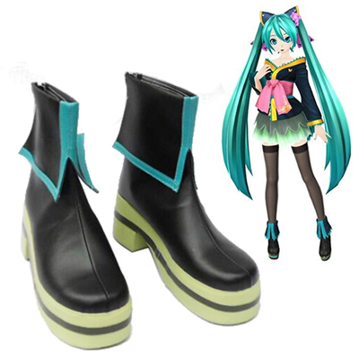 Vocaloid Hatsune Miku Project DIVA Courtesan kimono Faschings Stiefel Cosplay Schuhe