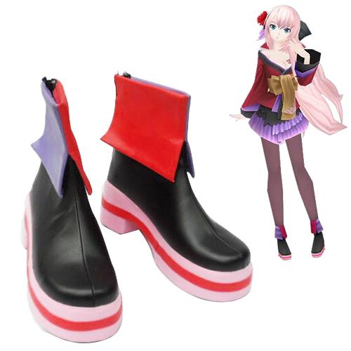 Vocaloid Megurine Luka Courtesan kimono Faschings Stiefel Cosplay Schuhe