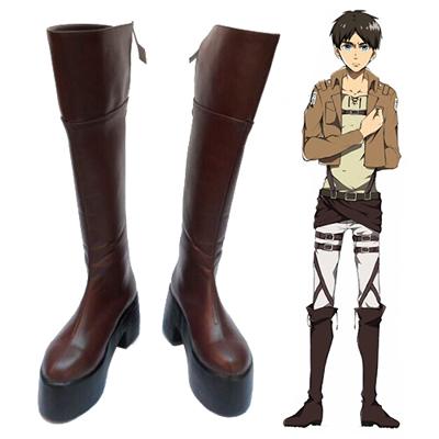 Zapatos Attack on Titan Eren Yeager Heel Height 10cm Cosplay Botas