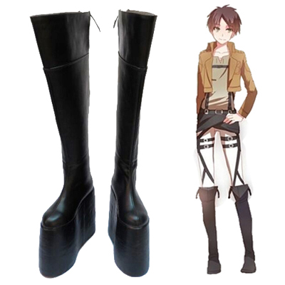 Zapatos Attack on Titan Comics Eren Yeager Heighten Cosplay Botas