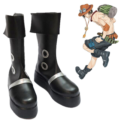 One Piece Portgas·D· Ace Chaussures Carnaval Cosplay