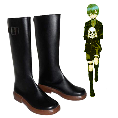 Zapatos Black Butler Ciel Phantomhive Black Cosplay Botas