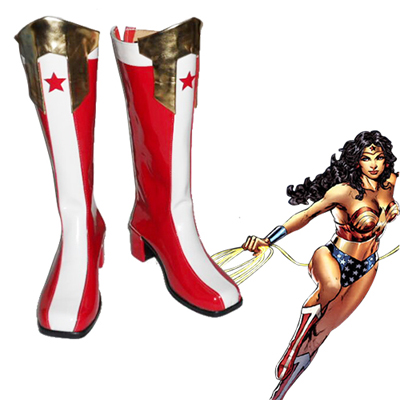 Justice League DC Comics Wonder Donna Cosplay Stivali Carnevale