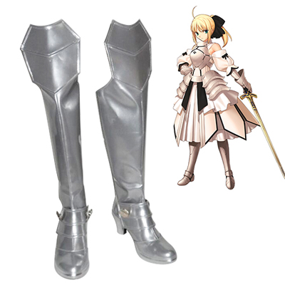 Fate/Extra Saber Silver Cosplay Shoes