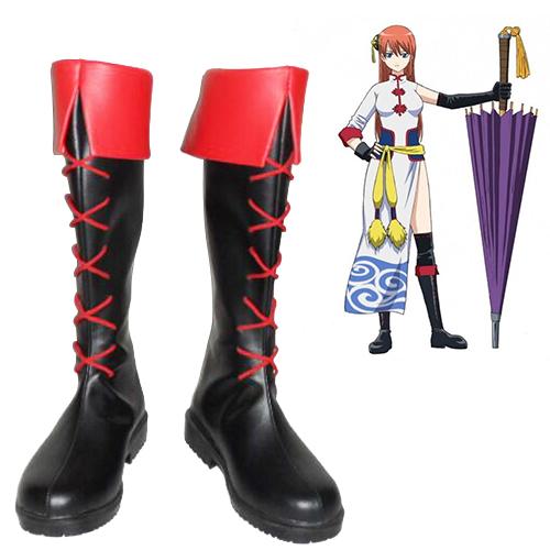 Gin Tama Kagura Faschings Stiefel Cosplay Schuhe