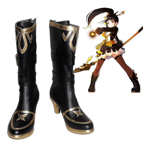 Elsword Ara Faschings Stiefel Cosplay Schuhe