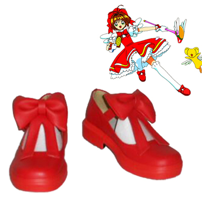 Cardcaptor Sakura Kinomoto Sakura Red Cosplay Shoes UK