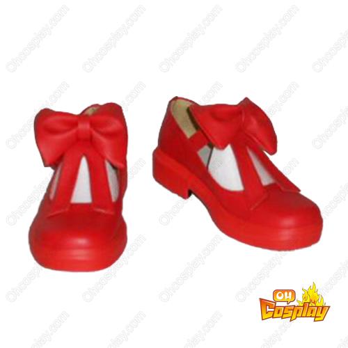 Cardcaptor Sakura Kinomoto Sakura Red Cosplay Sko Karneval Støvler