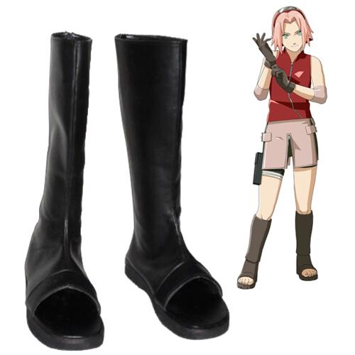 Naruto Haruno Sakura Faschings Stiefel Cosplay Schuhe