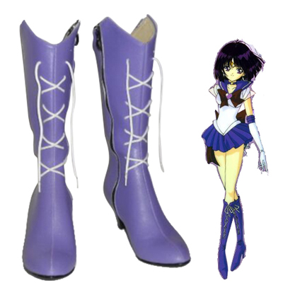Sailor Moon Sailor Saturn Cosplay Sko Karneval Støvler