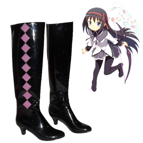 Puella Magi Madoka Magica Akemi Homura Cosplay Shoes
