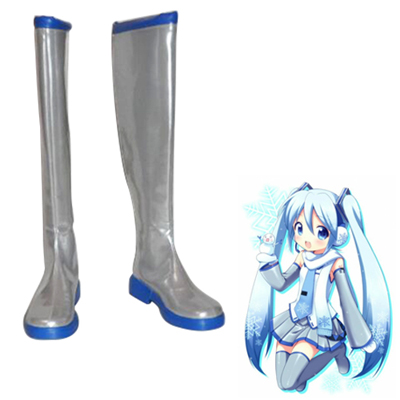 Vocaloid Snow Miku Cosplay Shoes
