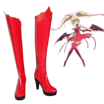 Shugo Chara Tsukiyomi Utau Red Cosplay Shoes