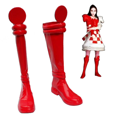 Alice: Madness Returns Alice Liddell Cosplay Scarpe Carnevale