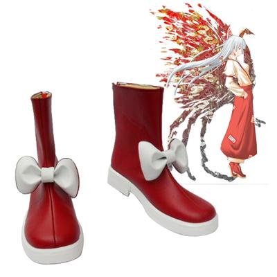 Zapatos TouHou Project Fujiwara no Mokou Cosplay Botas