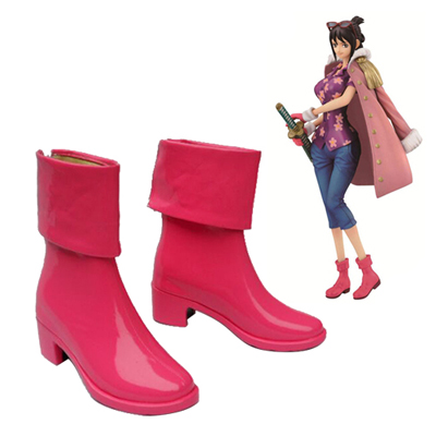 One Piece Tashigi Faschings Stiefel Cosplay Schuhe