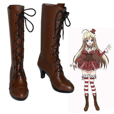 Noucome Chocolat Faschings Stiefel Cosplay Schuhe