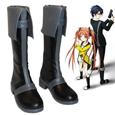 Black Bullet Satomi Rentaro Faschings Stiefel Cosplay Schuhe