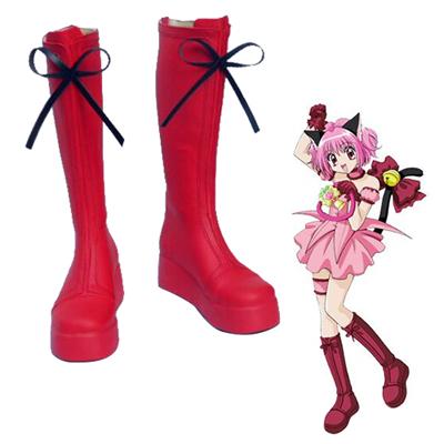 Tokyo Mew Mew Ichigo Momomiya Red Cosplay Shoes UK