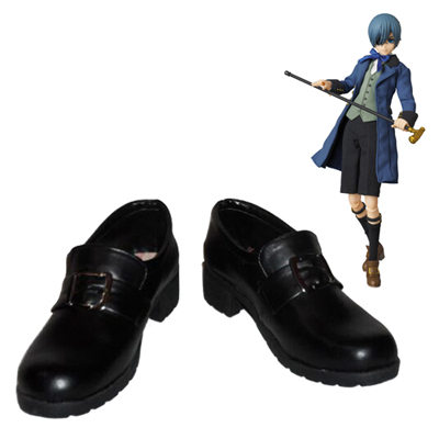 Black Butler Ciel Phantomhive Black Cosplay Shoes UK