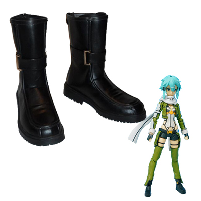 Sword Art Online Phantom Bullet Asada Shino Cosplay Shoes UK