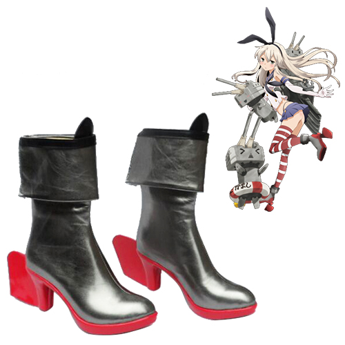 Kantai Collection Shimakaze Faschings Stiefel Cosplay Schuhe