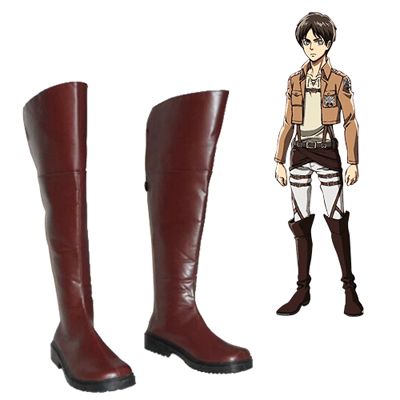 Zapatos Attack on Titan Eren Jaeger Cosplay Botas