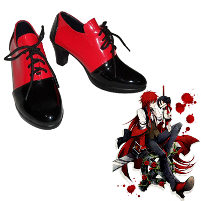 Black Butler Grell Sutcliff Cosplay Shoes UK